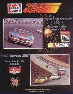 1984 Firecracker 400 Auto race held at Daytona International Speedway in 1984