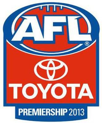 2013 AFL season - Image: 2013 AFL season logo