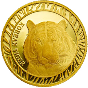 Korean Tiger Bullion Series Medal - Image: 2016 Korean Tiger Bullion Obverse