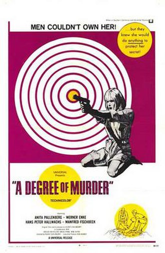 A Degree of Murder - Image: A Degree of Murder Poster