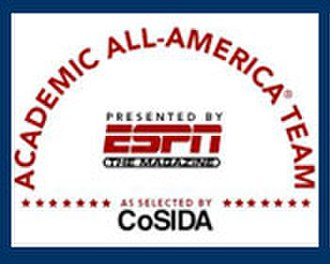"College Sports Information Directors of America - Academic All-American teams were marketed as ""All-American Team Presented by ESPN The Magazine as selected by CoSIDA"" until Fall 2010."