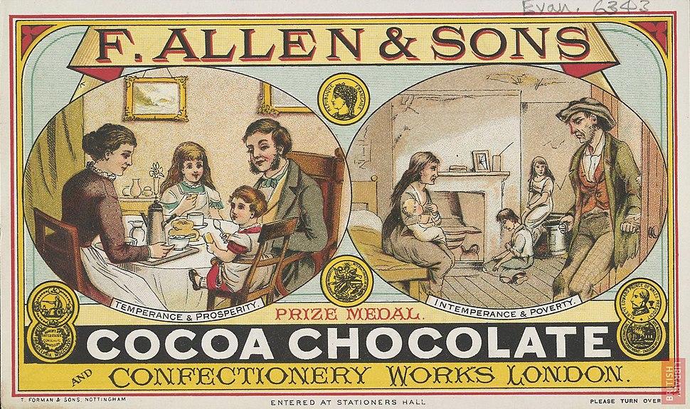 Allen & Sons Cocoa ad 1880