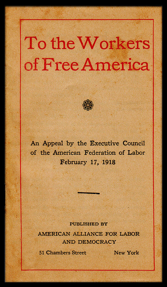 Cover of a 1918 pamphlet published by the Amer...