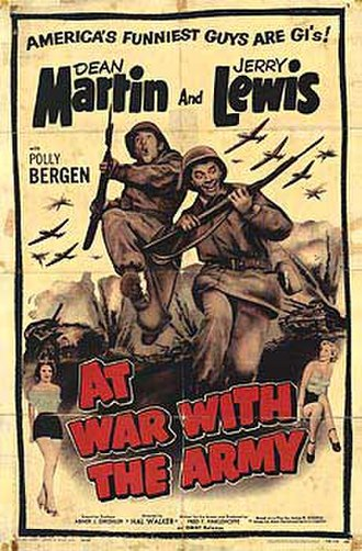 At War with the Army - 1958 theatrical reissue poster