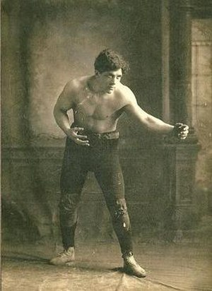 """Billy Sandow - Sandow as a professional wrestler, """"Young Muldoon"""", at the start of the 20th century"""