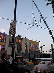 Location shoot for The Black Dahlia, June 2005, on Hollywood Boulevard.