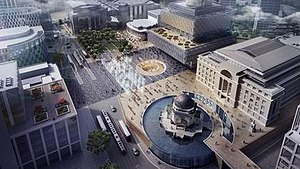 Centenary Square - Broadway Malyan's shortlisted concept design