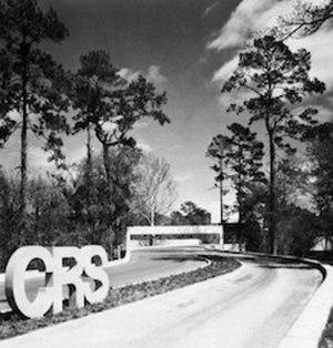 "Caudill Rowlett Scott - CRS building, called the ""White House"", in Houston, Texas"