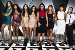 "Bad Girls Club (season 15) - The original eight ""Bad"" Girls of season 15 (left to right): Asia, Amber, Jessica, Annalisa, Kristina, Angela, Olivia, and Diamond"