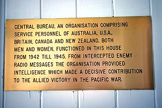 Central Bureau - Plaque at 21 Henry St, Ascot, Queensland