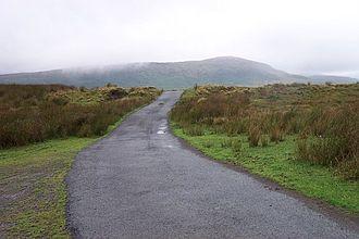 Llyn Cowlyd - The access road to Llyn Cowlyd (from Trefriw), at its highest point on Cefn Cyfarwydd