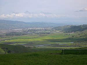Coyote Valley, California - A view across the Coyote Valley from Santa Teresa County Park, April 1, 2006