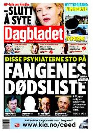 Dagbladet - Image: Dbforside