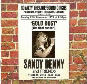 Gold Dust (Sandy Denny album) - Image: Denny Gold Dust