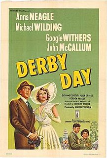 <i>Derby Day</i> (1952 film) 1952 film by Herbert Wilcox