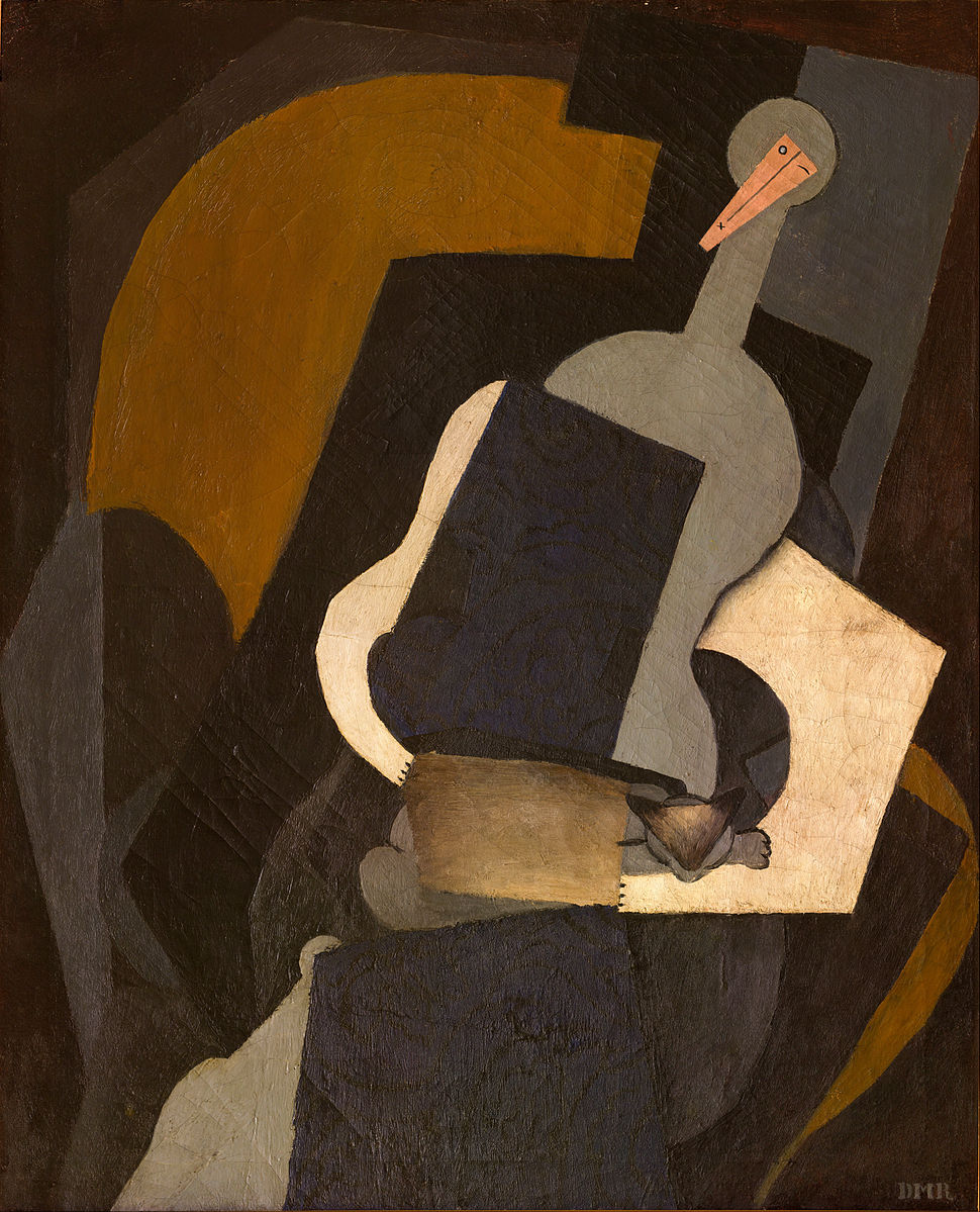 Diego Rivera - Seated Woman (Women with the Body of a Guitar) - Google Art Project