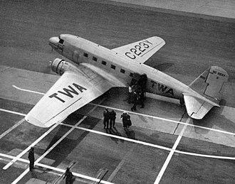 Douglas DC-1 - Douglas DC-1 on its handover to TWA in December 1933