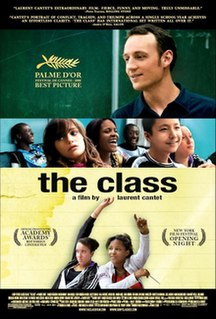 <i>The Class</i> (2008 film) 2008 film directed by Laurent Cantet