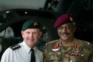 Ameer Faisal Alavi - Major General Ameer Faisal Alavi with General Bryan D. Brown