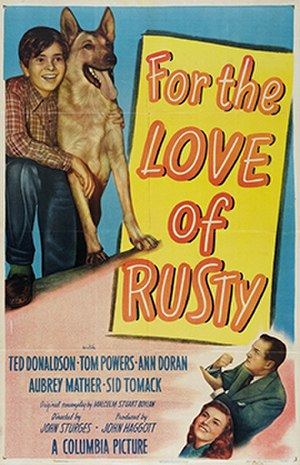 For the Love of Rusty - Theatrical release poster