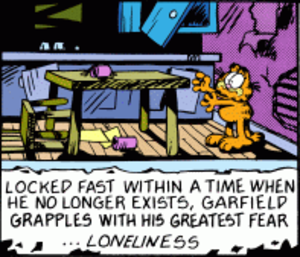 Garfield - Right panel of October 27, 1989 strip.