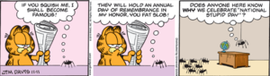 Garfield - The controversial comic strip