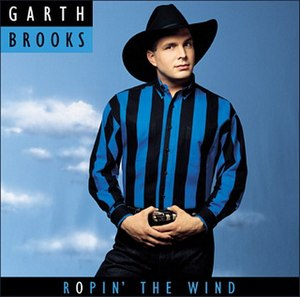 Ropin' the Wind - Image: Garth Brooks Ropin' the Wind (album cover)