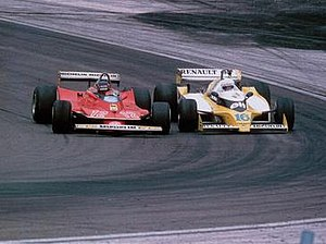 Gilles Villeneuve - In the 1979 French Grand Prix Villeneuve and René Arnoux had a memorable duel for second place.