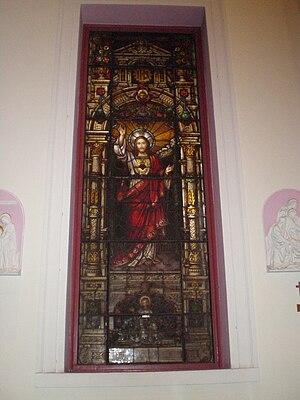 St. Peter the Apostle Church - Image: Glass jesus 1
