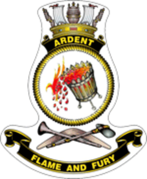 HMAS Ardent (P 87) - Ship's badge