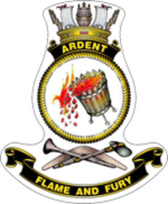 HMAS Ardent (P 87) - Ship's badge