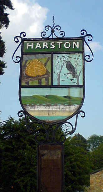 Harston - Sign on the green