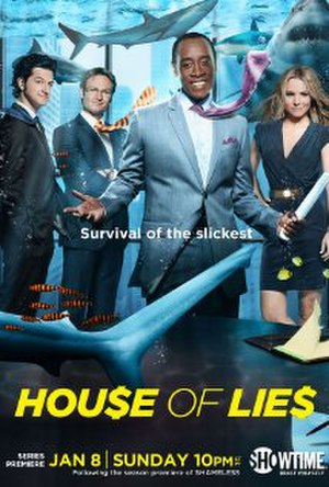 House of Lies - Promotional poster for the first season of House of Lies.