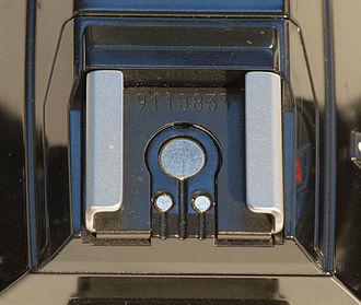 IISO flash shoe - Pre-1985 Minolta ISO 518 hot-shoe - Minolta X-500/X-570 specimen pictured