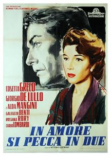 <i>It Takes Two to Sin in Love</i> 1954 film directed by Vittorio Cottafavi