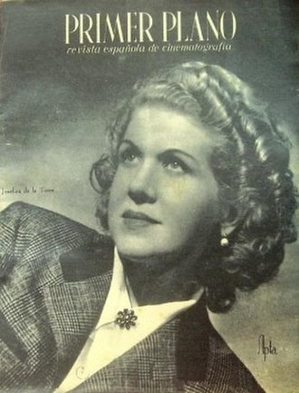 Josefina de la Torre - Josefina de la Torre on a 1944 cover of film magazine Primer Plano, where she worked as a columnist during the 1940s