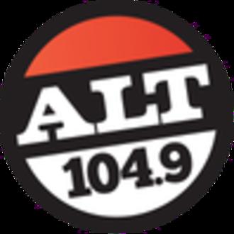 KLLT (FM) - Image: KBWX alt 104.9 logo