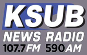 KSUB - Image: KSUB News Radio 107.7 590 logo