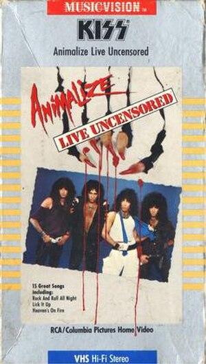 Animalize Live Uncensored - Image: Kiss Animalize Live Uncensored (April 1, 1985)