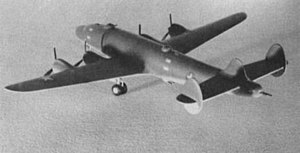Lockheed XB-30 - Scale model of the Lockheed XB-30 bomber concept.