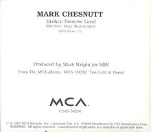 Mark Chesnutt - Broken Promise Land cd single.png