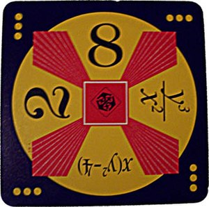 24 Game - A Maths24 card with the inclusion of variables, being used in an algebraic expression, in fractional form and with powers