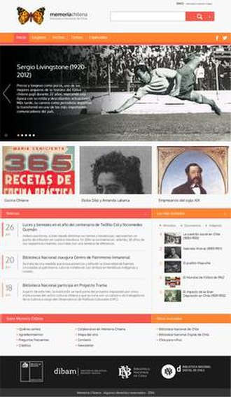 Memoria Chilena - Screenshot of Memoria Chilena on 17 December 2008