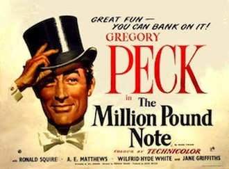 The Million Pound Note - British theatrical poster