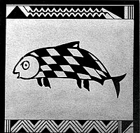 Fish compose approximately 8% of all figurative depictions on Mimbres pottery.