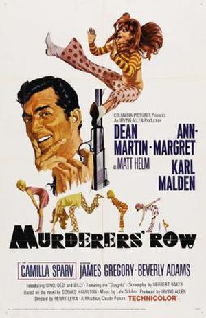 Murderers' Row (film) - film poster by Robert McGinnis