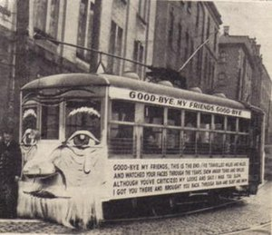 Nova Scotia Light and Power - A decorated tram marked the end of 83 years of streetcar service in Halifax.