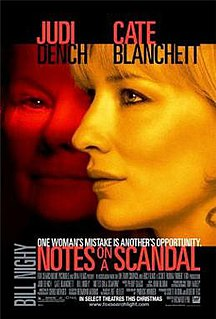 <i>Notes on a Scandal</i> (film) 2006 film by Richard Eyre