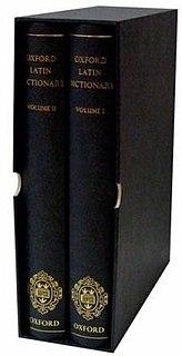 <i>Oxford Latin Dictionary</i> book