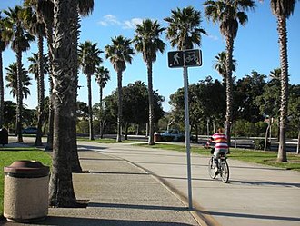 Oxnard, California - Walkway of the Oxnard Beach Park